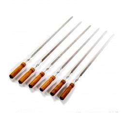Шампур с деревянной ручкой 600 мм (2 мм толщина)